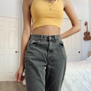 American Eagle black mom jeans